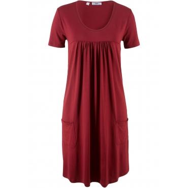 Kurzärmliges Shirtkleid kurzer Arm  in rot von bonprix