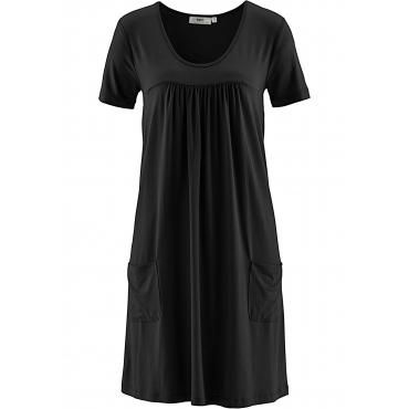 Jerseykleid, kurzarm in schwarz für Damen von bonprix