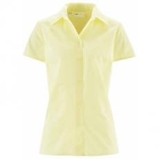 Kurzarm-Bluse in gelb von bonprix