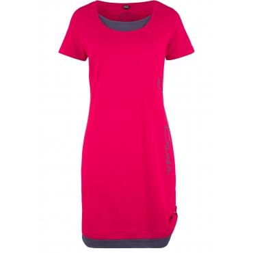 Kurzarm-Shirtkleid mit Druck in rot für Damen von bonprix