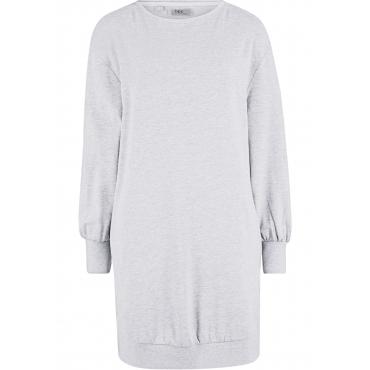 Lässiges Sweatkleid mit Taschen 3/4 Arm  in grau von bonprix
