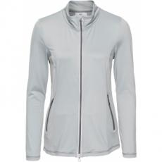 Langärmlige Funktions-Microfleece-Jacke langarm  in silber für Damen von bonprix