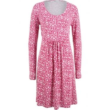 Langärmliges Shirtkleid langarm  in pink von bonprix