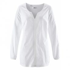 Langarm-Bluse in weiß von bonprix