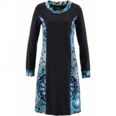 Langarm-Kleid in schwarz von bonprix