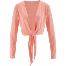 Langarm-Shirtbolero in rosa für Damen von bonprix