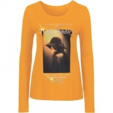 Langarmshirt in orange für Damen von bonprix