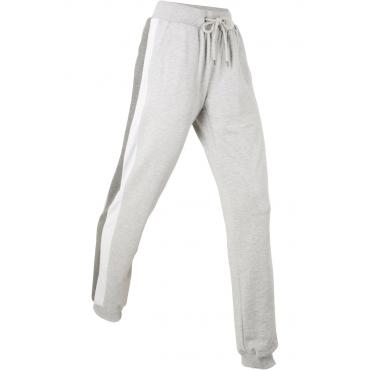Lange, leichte Sweathose in grau für Damen von bonprix
