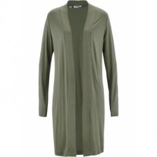 Lange Shirt-Jacke langarm  in grün für Damen von bonprix