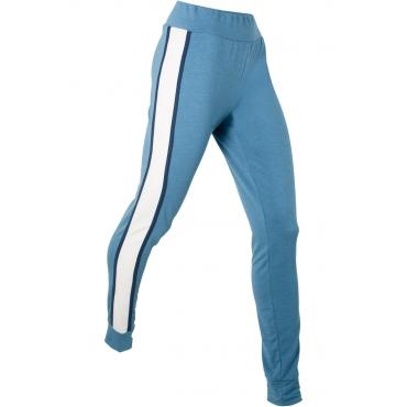 Lange Skinny Jogger in leichter Materialqualität – designt von Maite Kelly in blau für Damen von bonprix