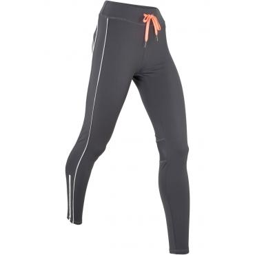 Lange Thermo-Lauf-Leggings Level 3 in grau für Damen von bonprix