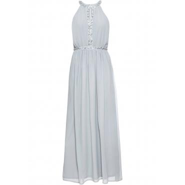 Langes Abend-Neckholder-Kleid ohne Ärmel  in blau für Damen von bonprix