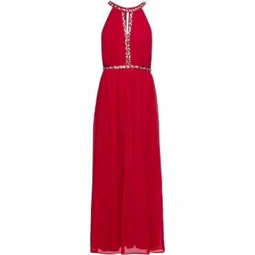 Langes Abend-Neckholder-Kleid ohne Ärmel  in rot für Damen von bonprix