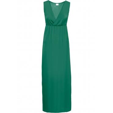 Langes Kleid ohne Ärmel  in grün von bonprix
