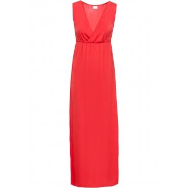 Langes Kleid ohne Ärmel  in rot von bonprix