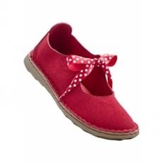 Lederballerina in rot für Damen von bonprix
