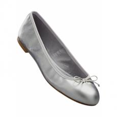 Lederballerina in silber für Damen von bonprix