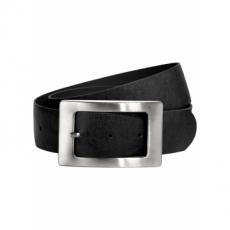 Ledergürtel aus Rindsleder mit Metallschnalle in schwarz für Damen von bonprix