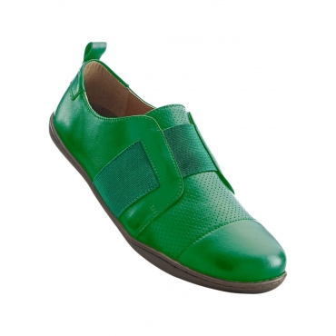 Lederhalbschuh in grün von bonprix
