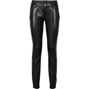 Lederimitat-Hose in schwarz für Damen von bonprix