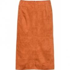 Lederimitat-Rock in orange für Damen von bonprix