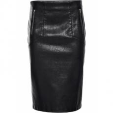 Lederimitat-Rock in schwarz für Damen von bonprix