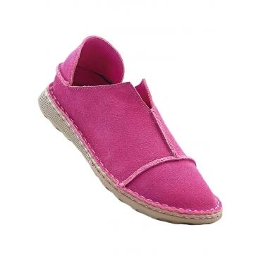 Lederslipper in pink von bonprix