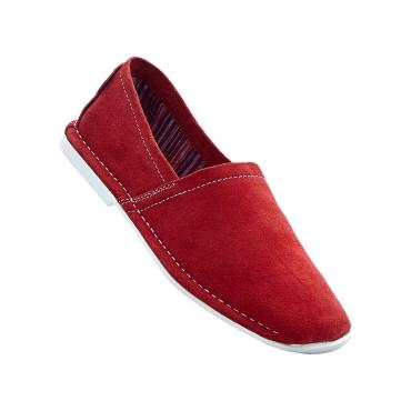 Lederslipper in rot von bonprix