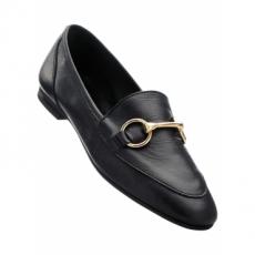 Lederslipper in schwarz von bonprix