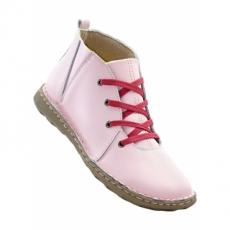 Lederstiefelette in rosa für Damen von bonprix