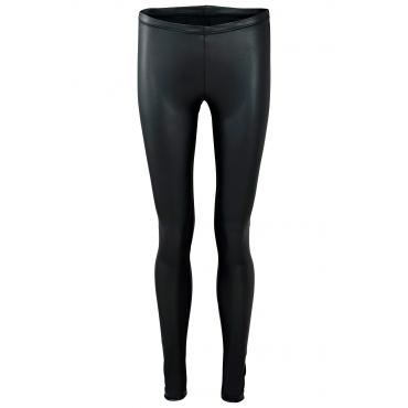 Beschichtete Leggings in schwarz für Damen von bonprix
