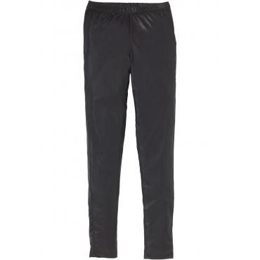 Leggings mit Beschichtung in schwarz für Damen von bonprix