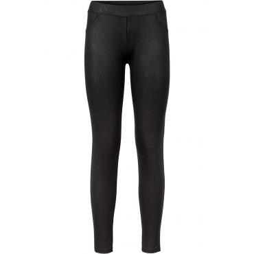 Leggings mit Glanzdruck in schwarz für Damen von bonprix