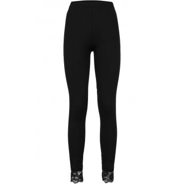 Leggings mit Spitze in schwarz für Damen von bonprix