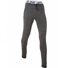 Leichte Jogginghose in langer Form in grau für Damen von bonprix