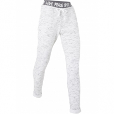 Leichte Jogginghose in langer Form in weiß für Damen von bonprix