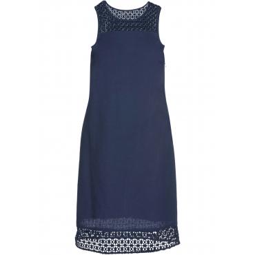 Leinen-Kleid ohne Ärmel  in blau für Damen von bonprix