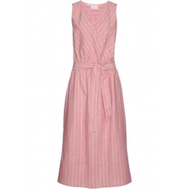 Premium Leinen-Kleid ohne Ärmel  in rosa von bonprix
