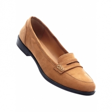 Loafer mit 2,3 cm Blockabsatz in braun von bonprix