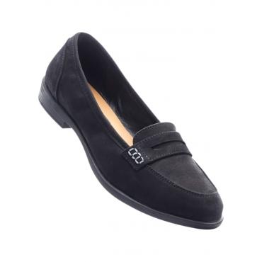 Loafer mit 2,3 cm Blockabsatz in schwarz von bonprix