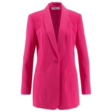 Long-Blazer, Langarm in pink für Damen von bonprix