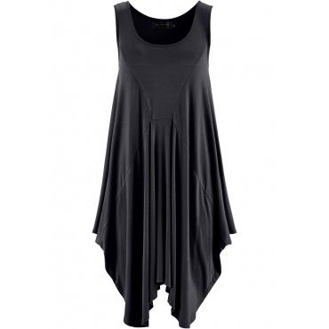Longtop ohne Ärmel  in schwarz (Rundhals) für Damen von bonprix