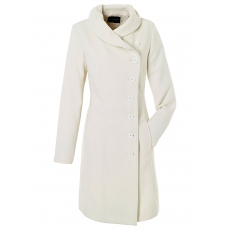 Mantel langarm  figurbetont  in weiß für Damen von bonprix