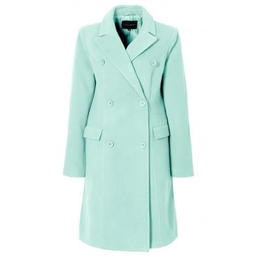 Mantel langarm  figurumspielend  in grün für Damen von bonprix