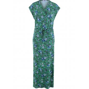 Maxi-Kleid Flügelärmel  in grün (V-Ausschnitt)  von bonprix