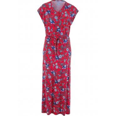Maxi-Kleid Flügelärmel  in rot (V-Ausschnitt)  von bonprix