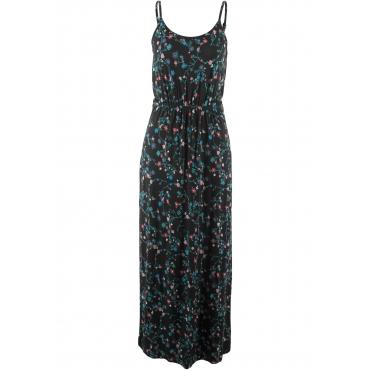 Maxi-Kleid mit Druck ohne Ärmel  in schwarz von bonprix