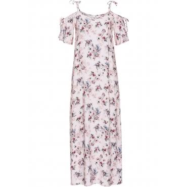 Maxi-Kleid mit Trägern zum Binden ohne Ärmel  in rosa von bonprix