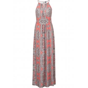 Maxi-Kleid ohne Ärmel  in orange von bonprix