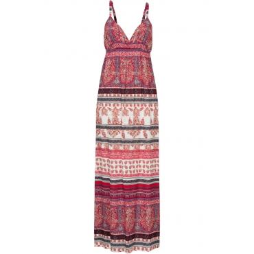 Maxi Kleid ohne Ärmel  in rot von bonprix
